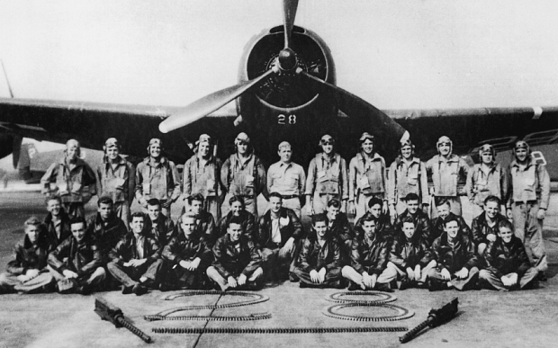"CIRCA 1945: Portrait of legendary Lost Squadron & plane ""Flight 19"" that supposedly vanished into Bermuda Triangle shortly after WWII. (Photo by The LIFE Picture Collection/Getty Images)"