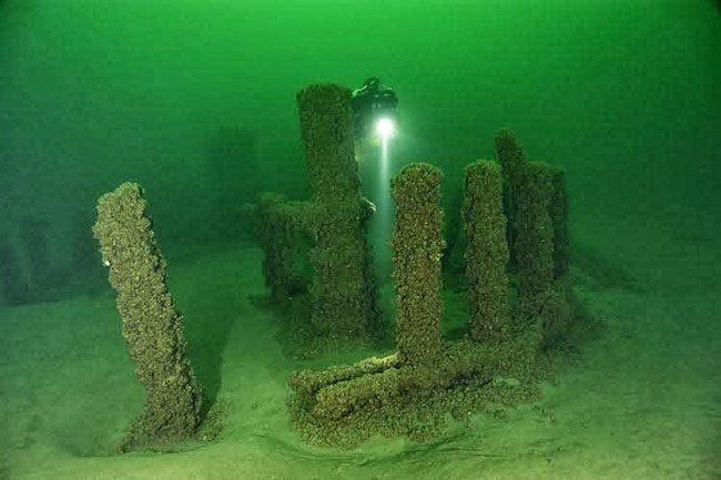 Stonehenge Under Lake Michigan