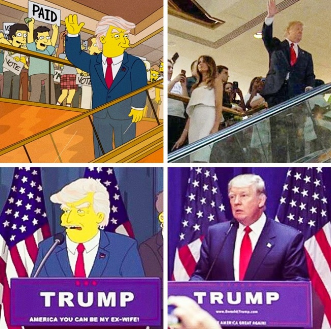 The Simpsons Predicting Donald Trump's Victory