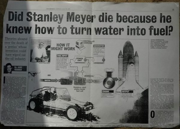 Stanley Meyer Mysterious Death